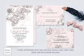 Wedding Invitation Templates With Photo Blush Pink Floral Wedding Invitation Template