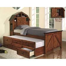 theme kids captain bed with storage and trundle