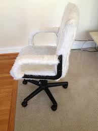 white reupholster office chair