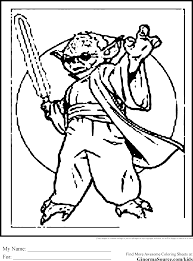 Star Wars Colouring Pages Yoda