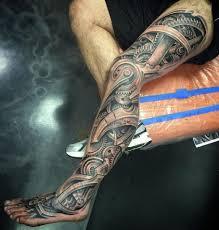 Insanely Intricate Leg Sleeve Tattoos Sleeve Ideas Designs