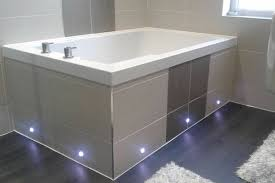 the soaking tub inset in a tiled surround with led underlighting dundee scotland