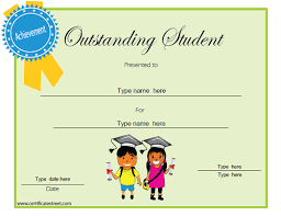 Student Of The Month Certificates Education Certificates Outstanding Student Of The Month