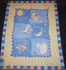 Darling Nursery Rhyme Fabric Panel Crib Quilt | Fabric panels ... & Darling Nursery Rhyme Fabric Panel Crib Quilt Adamdwight.com