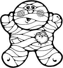 Small Picture Mummy Coloring Pages Halloween Fun for Halloween