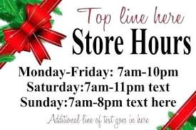 printable store hours sign printable business hours sign template 121828450003 business