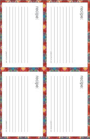 printable blank recipe cards 3 by 5 card template cards word set index size free x recipe