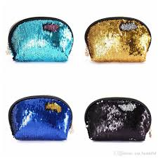 sequin handbags women portable travel cosmetic bag makeup case mermaid sequins evening bag for s wedding clutch bag ooa4647 sequin makeup bag mermaid