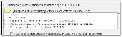 form 1120a fl forcing fl long form in 1120 1120s returns