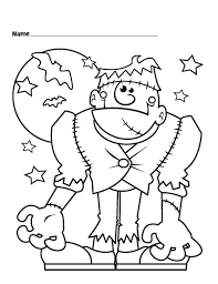 Small Picture Halloween Coloring Pages Of Frankenstein Coloring Pages