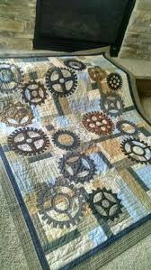 Steampunk gear quilt at the Sisters Outdoor Quilt Show | Awesome ... & Image result for man quilting gear quilt Adamdwight.com