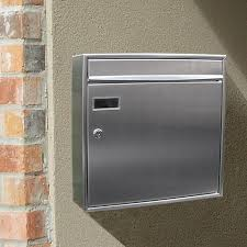 stainless steel modern contemporary view point mailbox non locking wall mount wall mount mailboxes