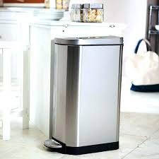 stainless steel 13 gallon trash cans best kitchen trash can image of stainless steel kitchen trash