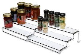 Tier Spice Rack Amazoncom Decobros 3 Tier Expandable Cabinet Spice Rack Step