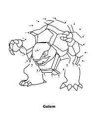Pokemon Paradijs Kleurplaat Golem