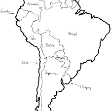 North And South America Blank Map South And Central America Blank Map Votebyte Co
