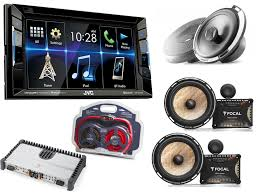 kw vbt dvd receiver w focal pcf way car silver speakers w jvc kw v230bt dvd receiver w focal pc165f 2 way car silver speakers w ps 165 fx flax cone 2 way component kit x2 and ek21 4 awg elite series amplifier