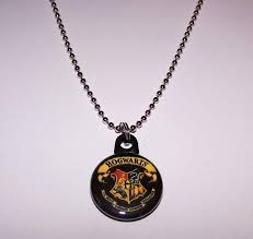 harry potter hogwarts crest 1 on charm necklace