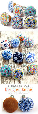 Diy Cabinet Knobs 5 Minute Designer Knobs A Piece Of Rainbow