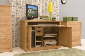 Hidden home office furniture Study Oak Solution Conran Solid Oak Furniture Hidden Home Office Computer Desk