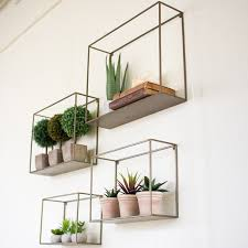 metal wall shelf group set 4