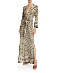 Neiman Marcus Classic Size Chart Geo Print Classic Caftan Maxi Dress
