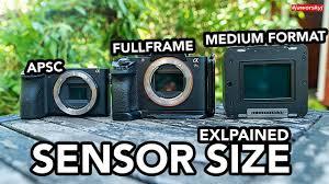 Dslr Sensor Size Chart Does Camera Sensor Size Matter