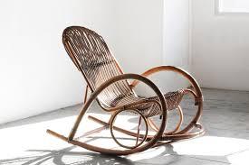 R Random 2 Mid Century Modern Wicker Chair