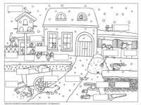 Lezen Kern 6 Kleurplaat Met Opdracht Vll Winter En School