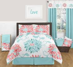 Coral And Turquoise Bedroom Ideas 3