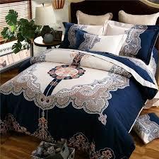 aliexpress com boho bohemian designer royal blue bedding sets king queen size quilt duvet cover cotton bed sheet set bedspread linen in a bag from