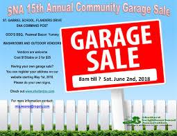Garage Sale Flyer June2018 Shellards Neighborhood Association