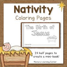 Small Picture Nativity Coloring Pages Mamas Learning Corner