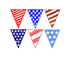 Designer Bunting Designer Svg Cutting File Stars And Stripes Patriotic