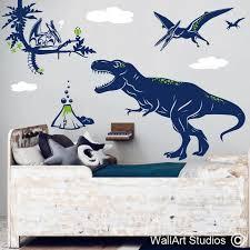 t rex pterodactyl dinosaur wall decal