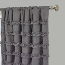 curtain  joycelyn cotton  inch oversized white ruffle curtain