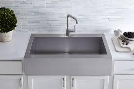 top mount apron front sink. Kohler Vault TopMount SingleBowl Stainless Steel Kitchen Sink With Shortened ApronFront For 36 In Top Mount Apron Front