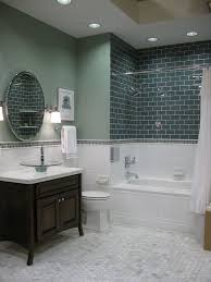 love the marble hex tile with white subway tile the colored subway tile gives great depth