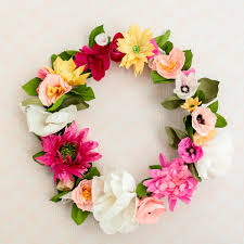 How To Make A Flower Paper How To Make A Paper Flower Wreath A Beautiful Mess