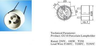 ce gu10 socket gu10 lamp holder manufacturer gu10 lamp holders diagram