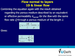 flow normal to layers 1d linear flow