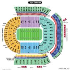 Lsu Seating Chart With Rows Tiger Stadium Seating Chart Tiger Stadium Baton Rouge