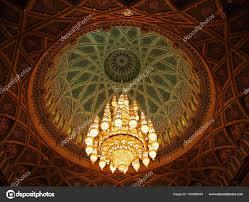 mu oman may 10 2016 crystal chandelier inside sultan qaboos grand mosque