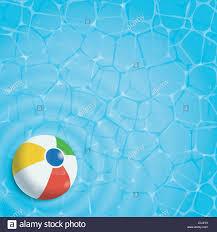 swimming pool beach ball background. Summer Background. Beach Ball In A Swimming Pool, Top View Pool Background E