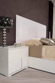 vig modrest nicla modern white gloss finish queen bedroom set 3pcs made in italy