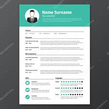 Cv Resume Template Stock Vector Hollygraphic 90832058