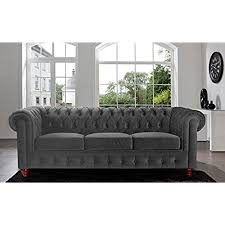 deep seat couch. Divano Roma Furniture Velvet Scroll Arm Tufted Button Chesterfield Style Sofa, Grey Deep Seat Couch
