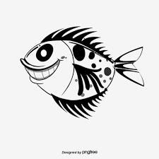 魚ベクトル素材漫画スケッチ魚 カートゥーン 海の魚 簡画魚の無料