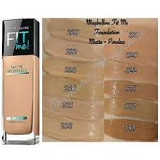 Maybelline Fit Me Foundation Shades Chart 7 Best Maybelline Fit Me Swatches Images Maybelline