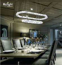 oval shaped crystal chandelier new art annular led re crystal chandelier light fixture creative oval ring